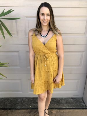 Arianna Dress in Mustard