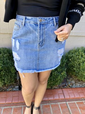 Cece Denim Skirt