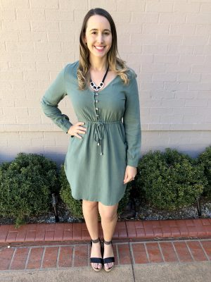 Brea Dress in Khaki