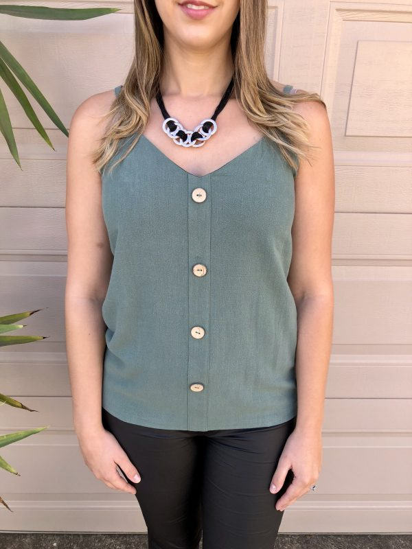Misty Linen Top in Teal