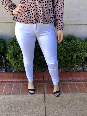 Arabella High Waisted Jeans in White