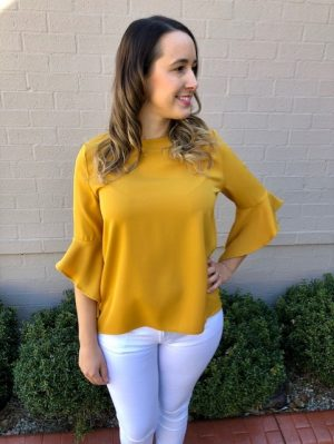 Callie Blouse in Mustard