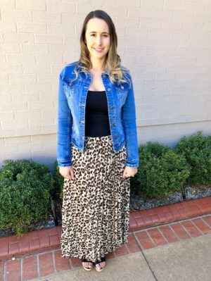 Demi Pleated Leopard Skirt