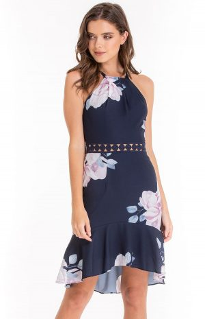 Tilly Blue Floral Dress