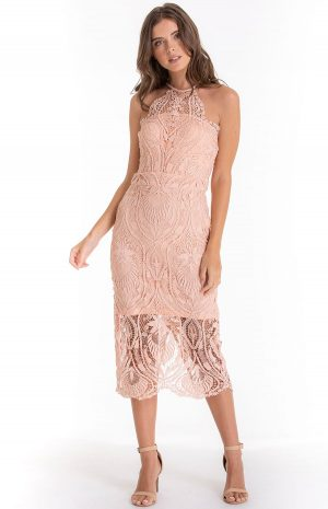 Holly Maze Dress in Peach