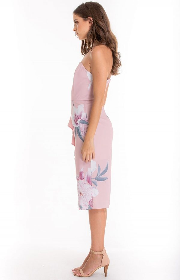 Harriet Floral Dress in Soft Pink