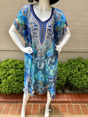 Stella Summer Kaftan in Blue