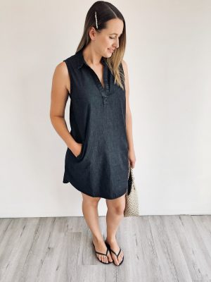 Diaz Jean Dress in Black
