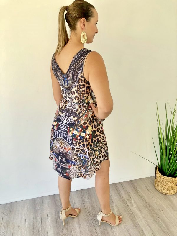 Dazzle with a touch of Leopard Dress