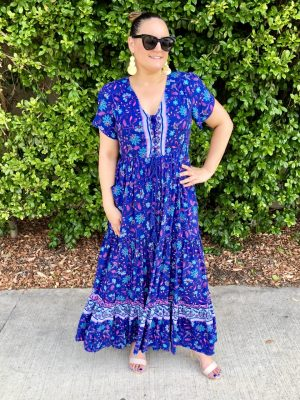 Marley Maxi Dress in Purple