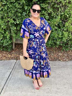 Mariah Dress in Purple Floral